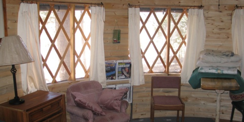 Interior of the yurt - more of these to come! – Dave Wooley