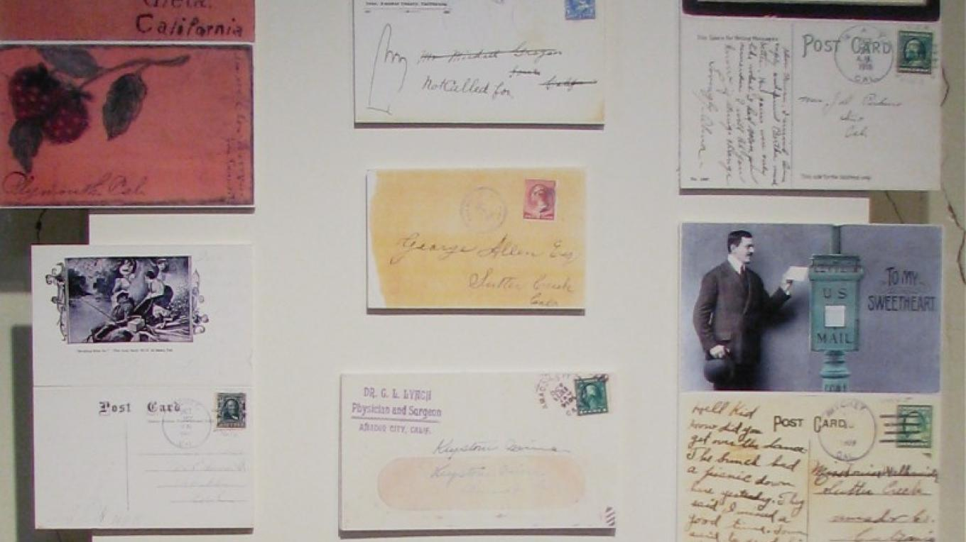 Letters have been preserved, with postage stamps and post marks from all over the country. – Karrie Lindsay
