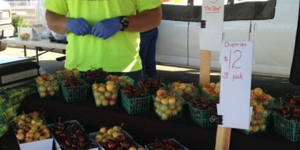 Fresh cherries by regional farmers are available at the Rocklin Finnish Hall market in Rocklin, of course! – Foothill Farmers Market