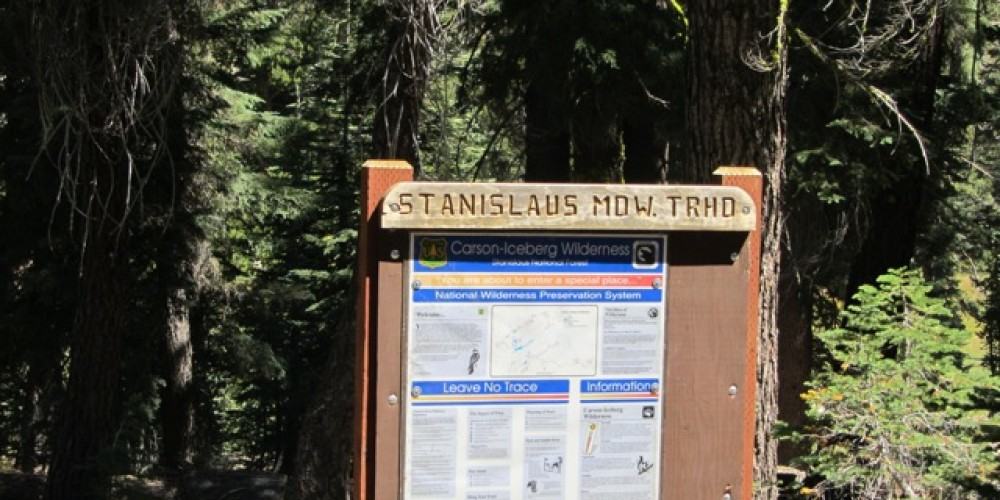 Stanislaus Meadow Trailhead sign – bigtreestech.com