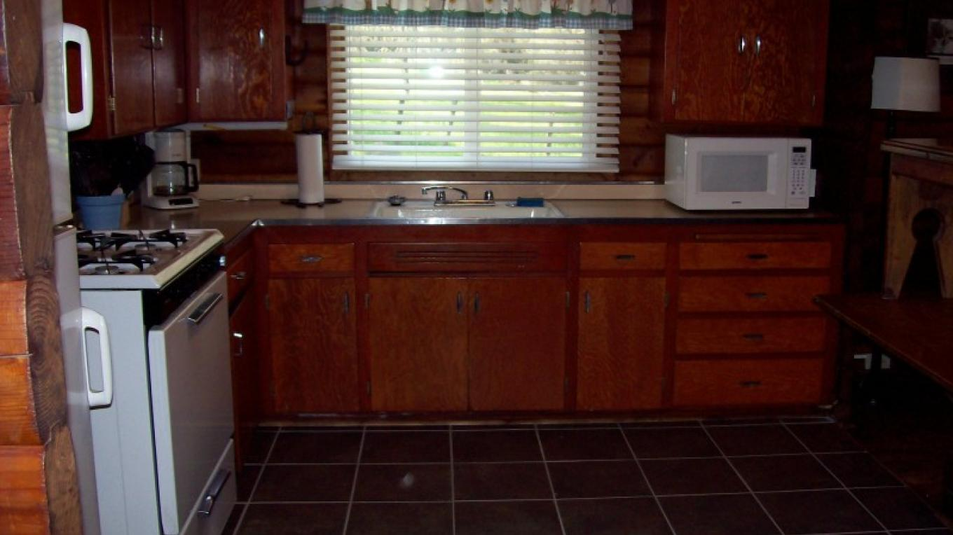 Photo of kitchen at Camp 4 1/2 cabin – USDA-Forest Service