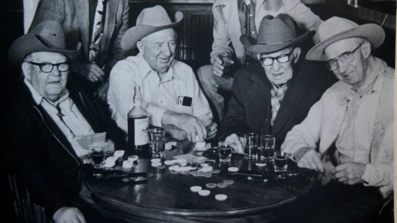 Local high rolling ranchers played poker at the Niles. – Courtesy of the Modoc County Museum