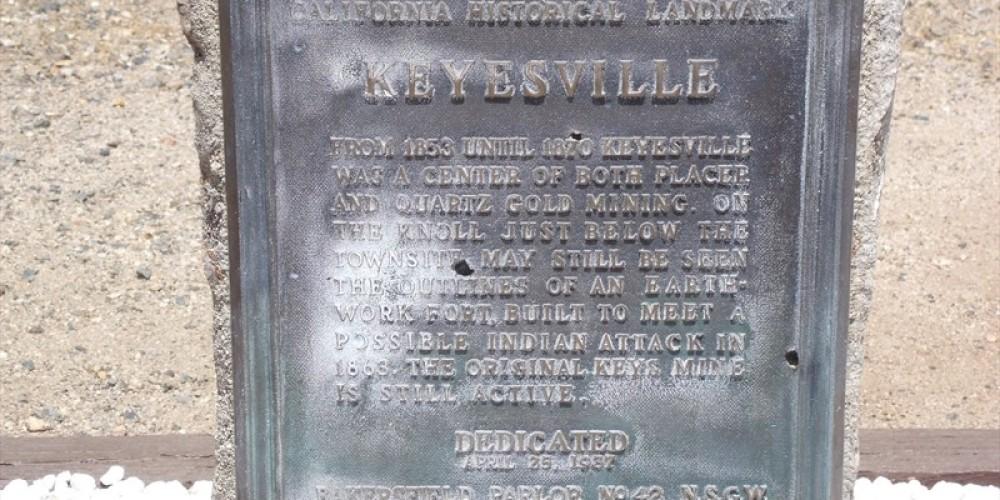 Keysville Landmark Marker – Death Valley Jim