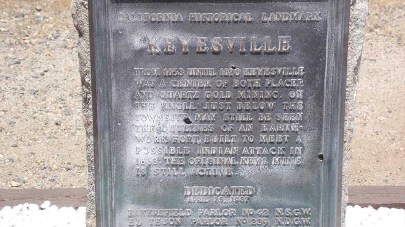 Keysville Landmark Marker – Death Valley Jim
