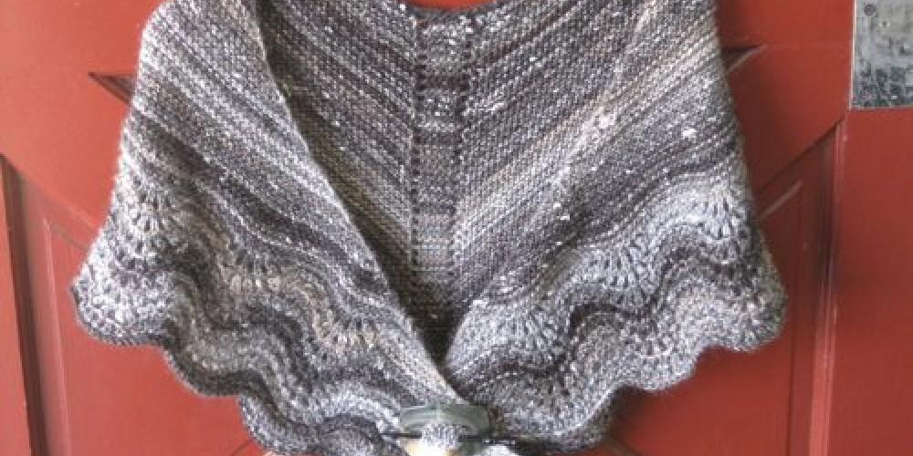 Multnomah Shawl in Plymouth Mushishi yarn – Jana Botkin