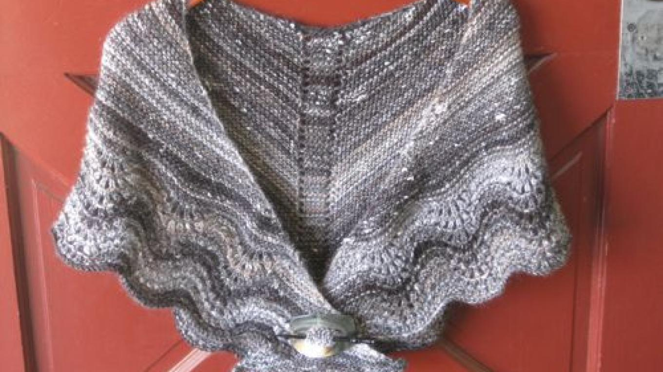 Multnomah Shawl in Plymouth Mushishi yarn – Jana Botkin
