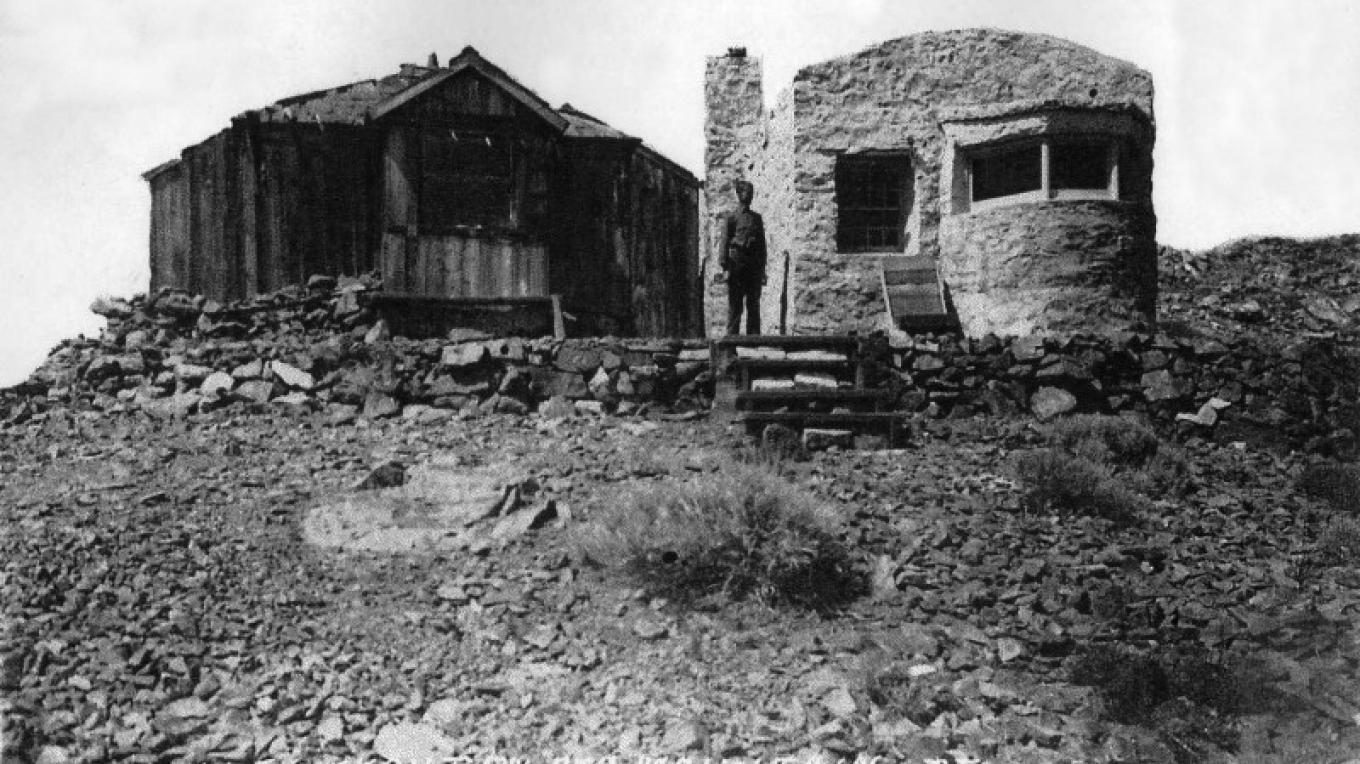 historic photo of the Red Mountain lookout – unknown