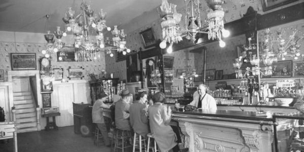 The bar inside the Angels Hotel – Peter Stackpole- Time Inc.