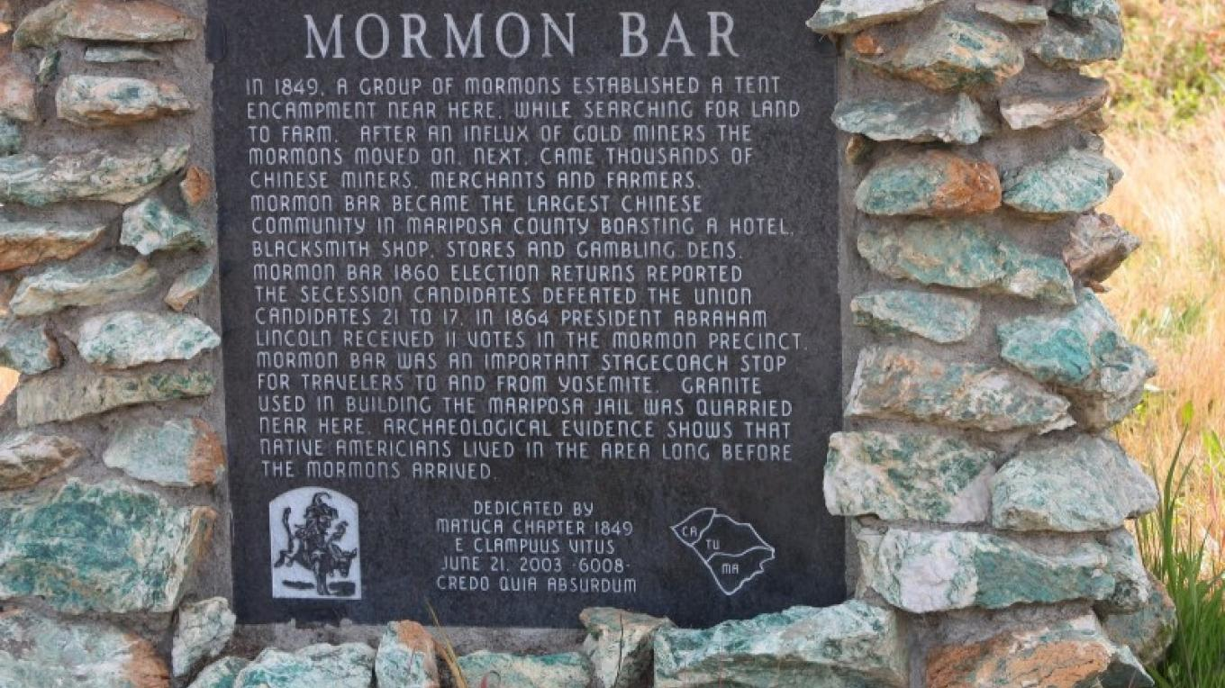 Mormons of this area came to farm and soon overrun by the largest influx of Chinese immigrants in Mariposa County. – Historical marker database, www.hmdb.org