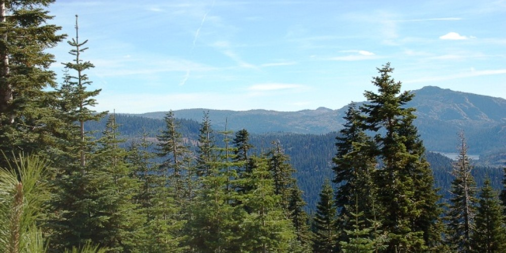 Surrounded by the Scenic Northern Sierra Nevada mountains. – Larry Farquhar