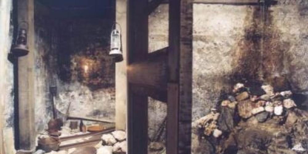 Mine shaft area