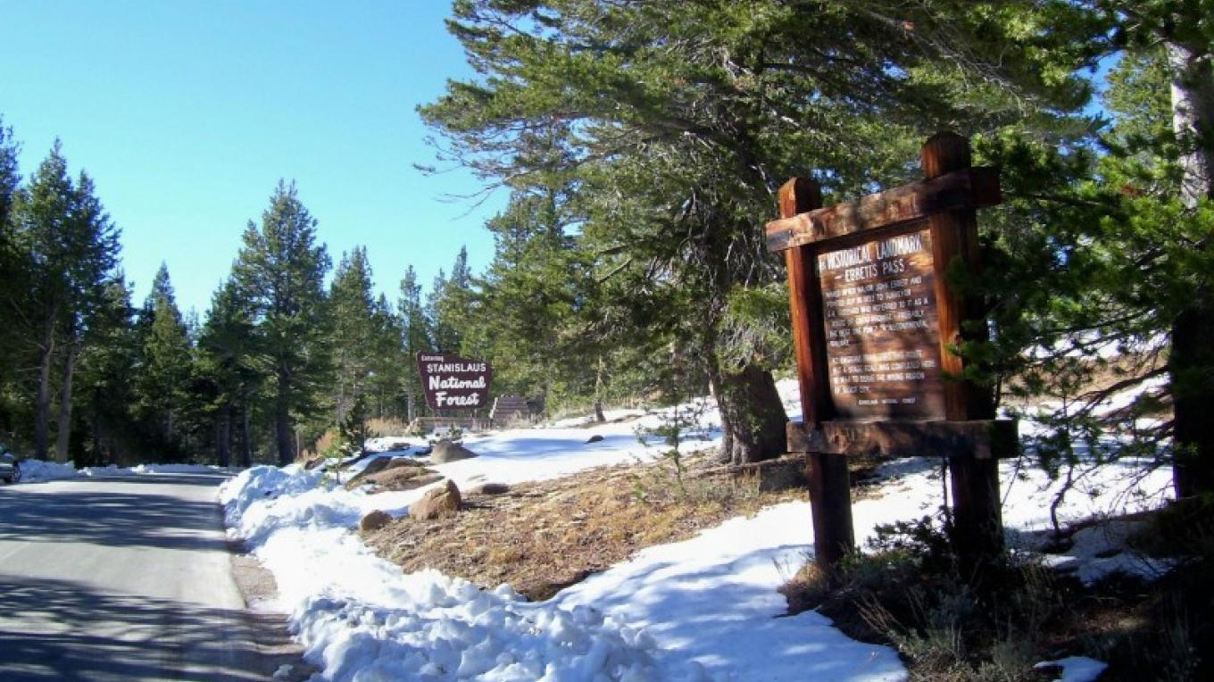 Snow closes Ebbetts Pass for most of the winter months. – Mike Needs