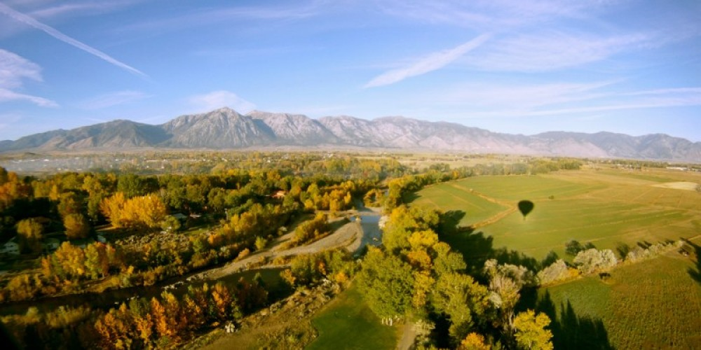 """Our """"Ballooner Eclipse"""" as seen from our balloon over the Carson Valley – Whit Landvater"""