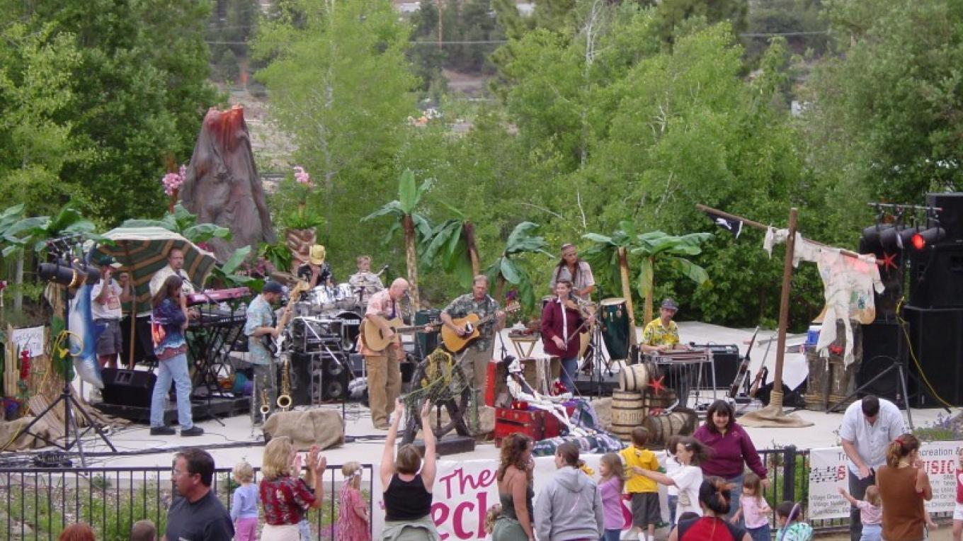 The Deck Heads plaing at Music in the Park – Shaun Mitchell