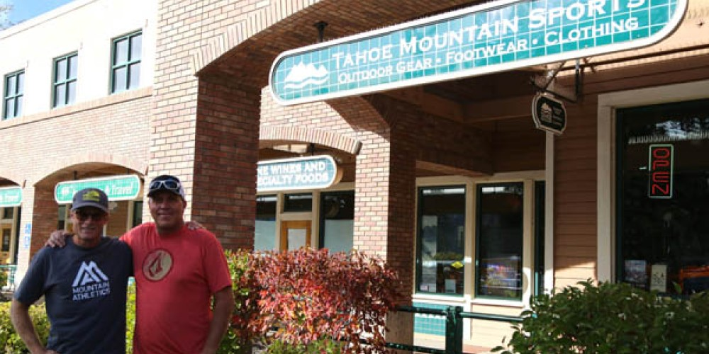 Outside the store with The North Face Athlete  - Conrad Anker and J.D. Hoss of 101.5 FM KTKE Truckee Tahoe Radio. – High Sierra Marketing