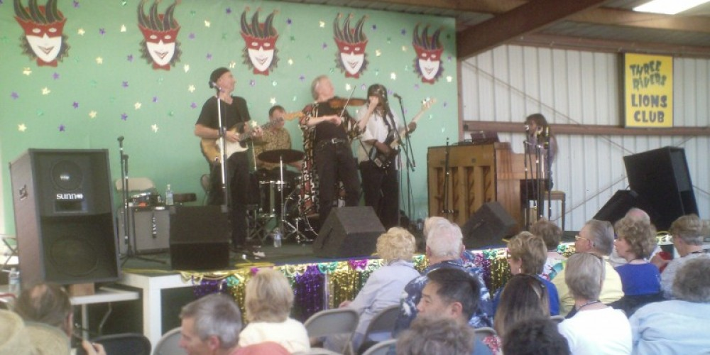 Jazzaffair, Tom Rigney and Flambeau, in concert at the LIONS Roping Arena venue, 2009 – Leah Catherine Launey