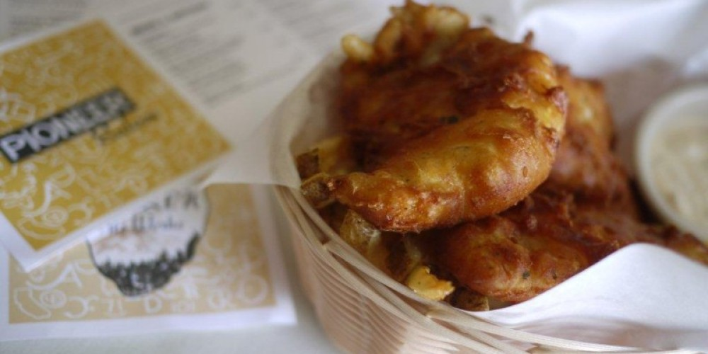 Beer battered cod and hand cut fries – Margaret Liddiard