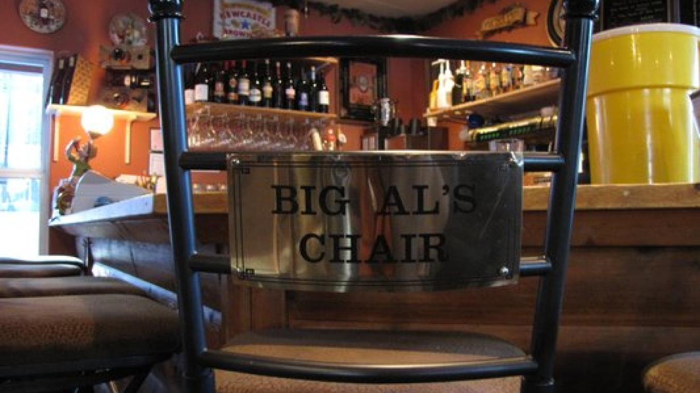 One special local, Big Al, has his own chair at the bar – Kerri C