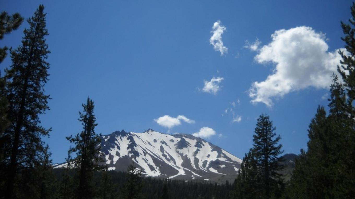 Lassen Peak in August within the Lassen National Volcanic Park – by Allison Scull