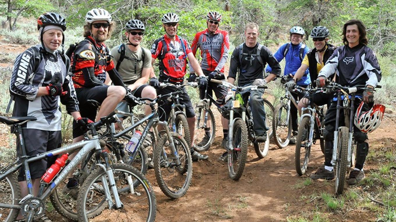 Happy mountain bikers – Joel Rathje