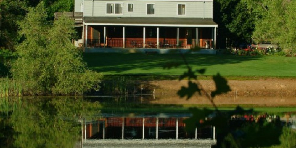 The inn as seen from across the lake. – Ron Schwager