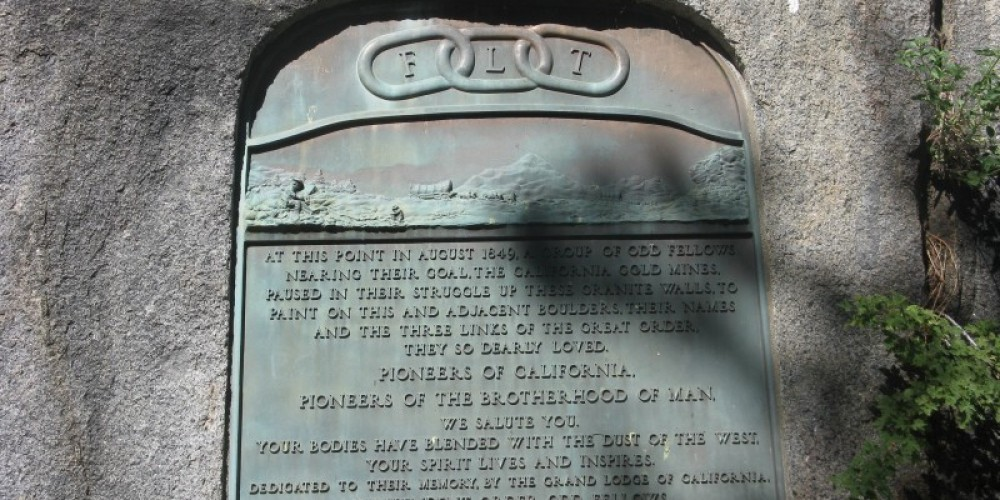 Memorial to Pioneer Odd Fellows Marker – By Syd Whittle, July 26, 2009
