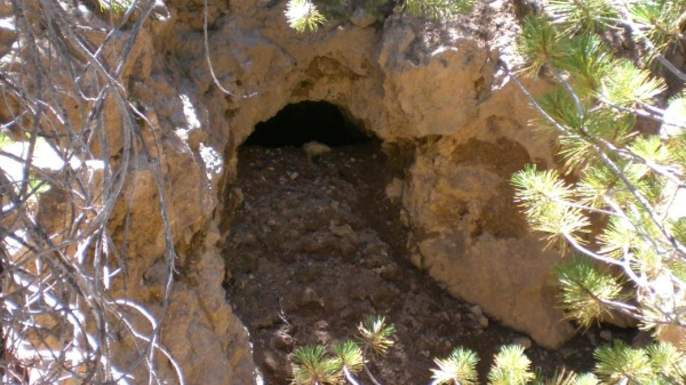 One of many visible mine shafts. – Kerry Davis