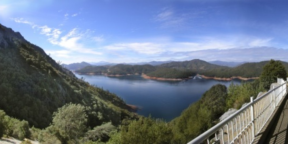 View of the McCloud Arm of Shasta Lake from the entrance of the cave – Lake Shasta Caverns