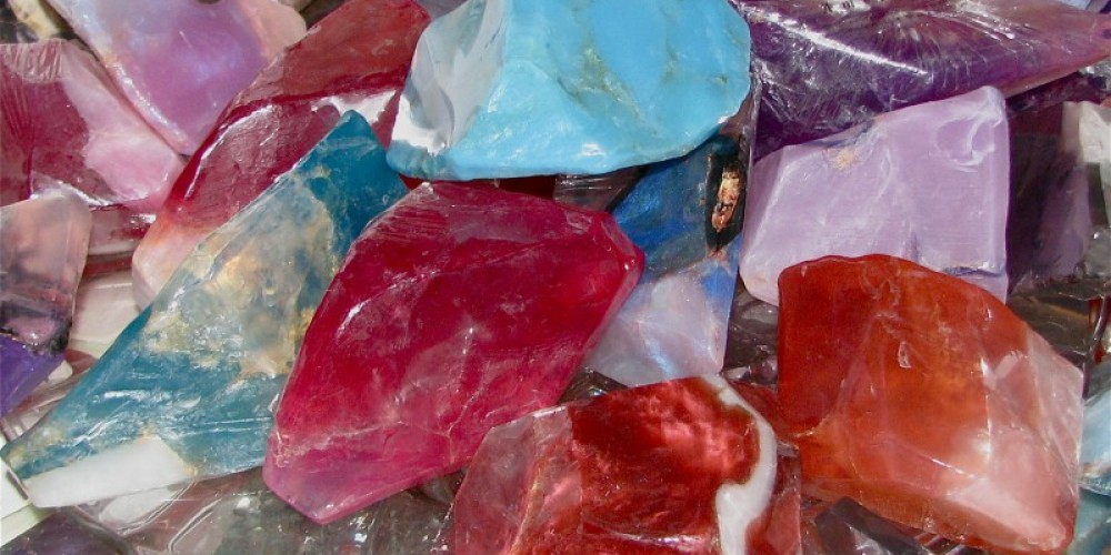 Soap Rocks, a classic product at The Miner's Pick, are always available. – Karrie Lindsay