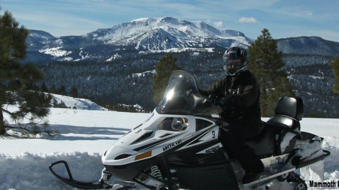 Vista Point near Mammoth Mountain – DJ's Snowmobile Adventures, Inc.