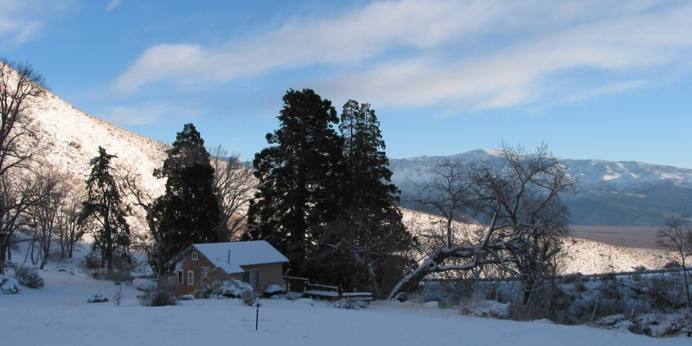Heated cabin in the winter – Julie Fought