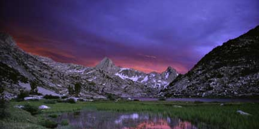 Sunset in the high Sierra. – Photo by Galen Rowell/Mountain Light Gallery