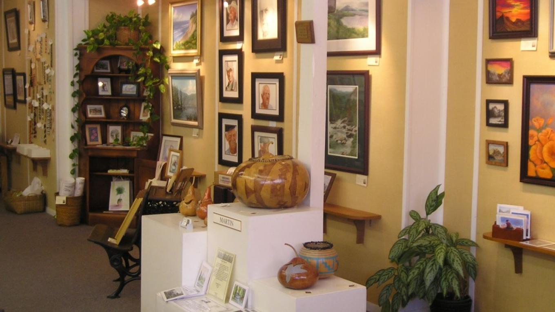 Interior of Sierra Artists Gallery