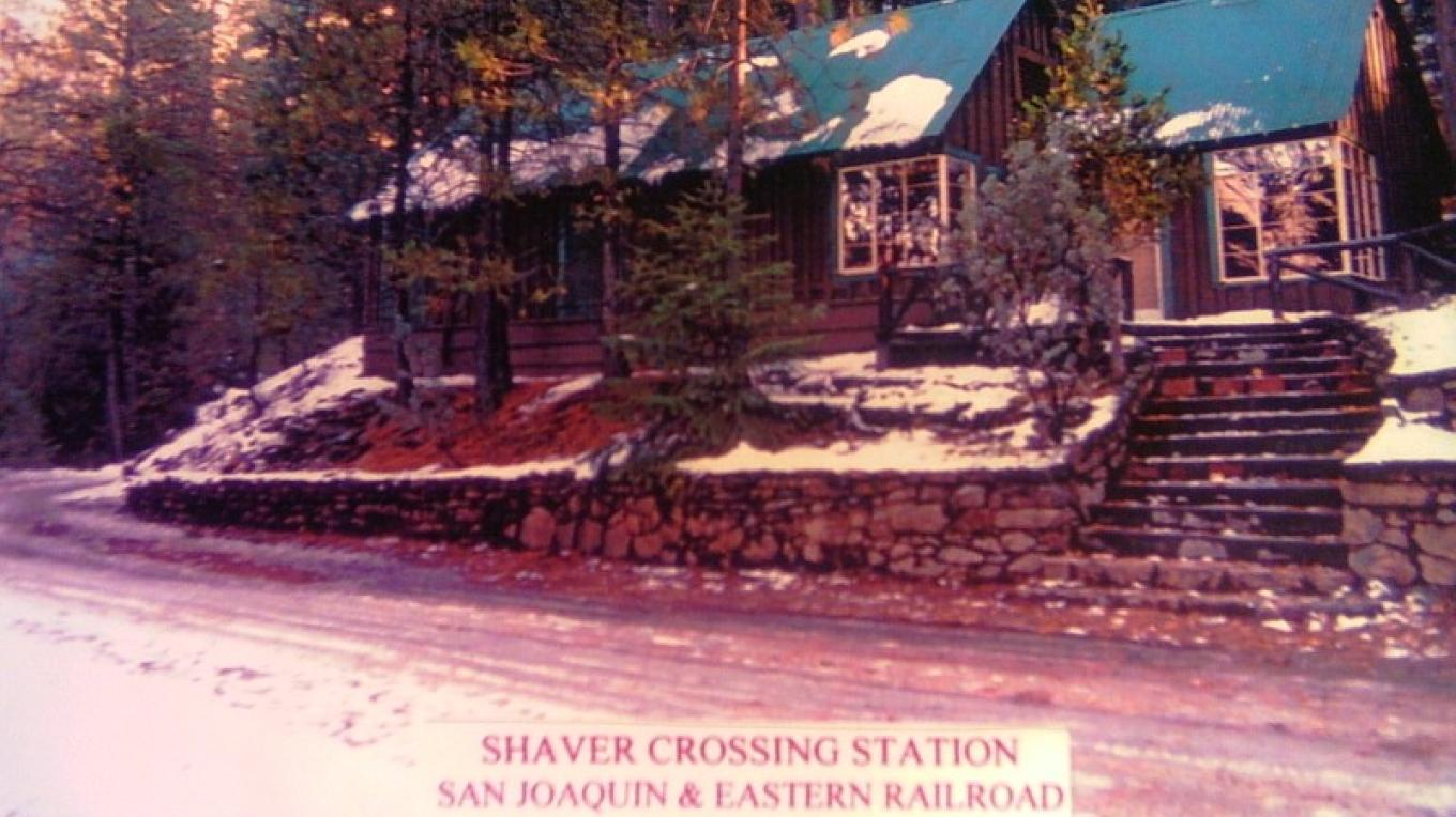 Shaver Crossing Railroad Station.