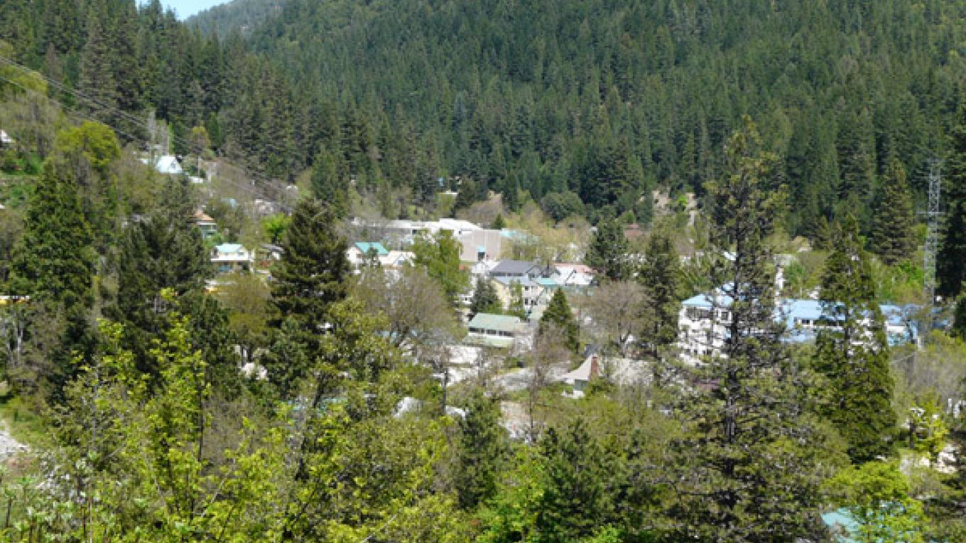 The village of Downieville from Cannon Point on Hwy 49, just outside town. – Mike or Nancy Carnahan