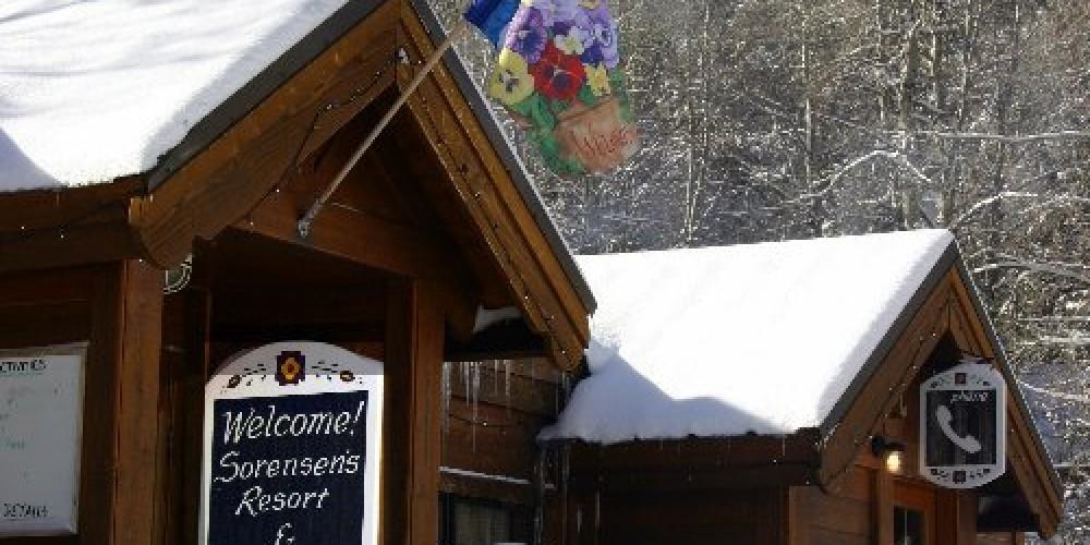 Winter at Sorensen's Resort in Hope Valley, Alpine County. – Sorensen's Resort