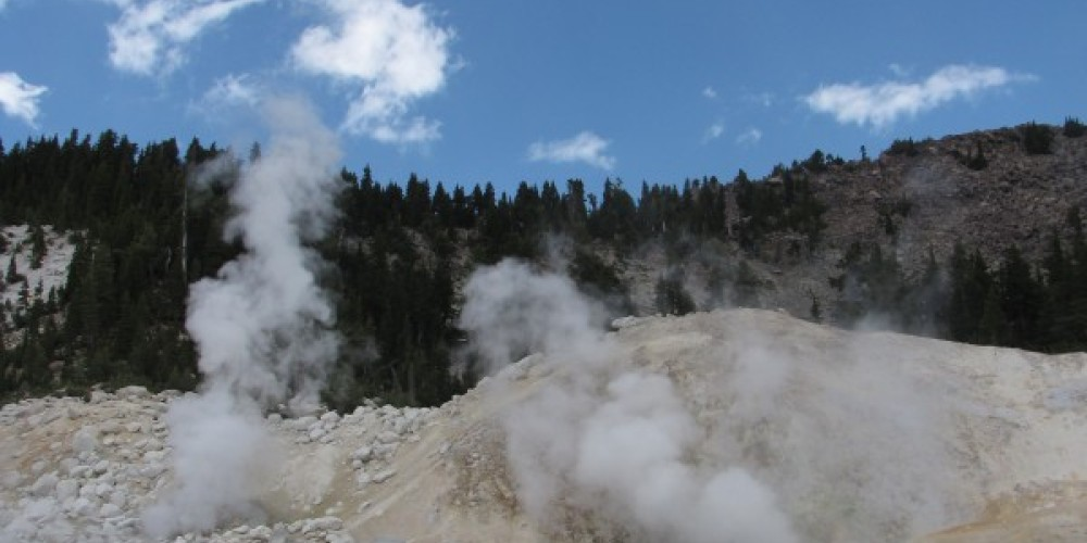 Fumeroles send steam into the high alpine air. – Ben Miles