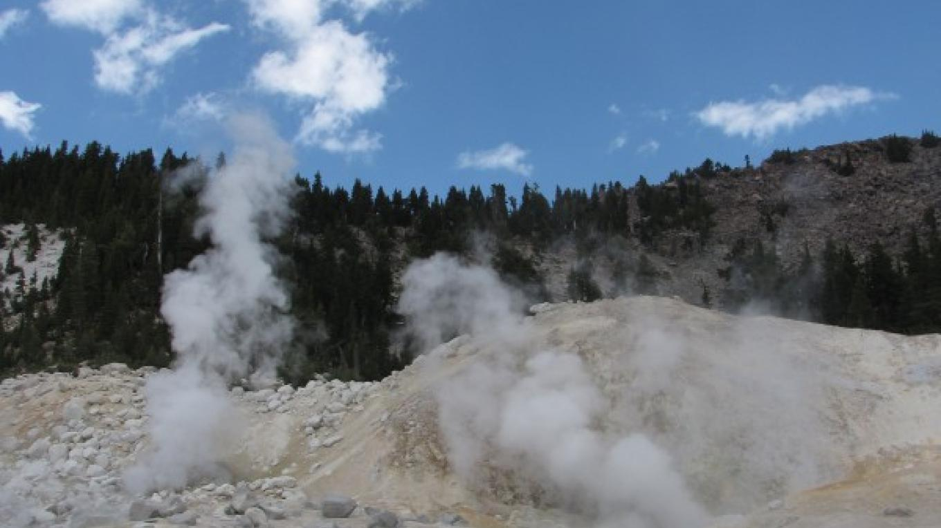 Fumeroles send steam into the high alpine air. – Ben Miles
