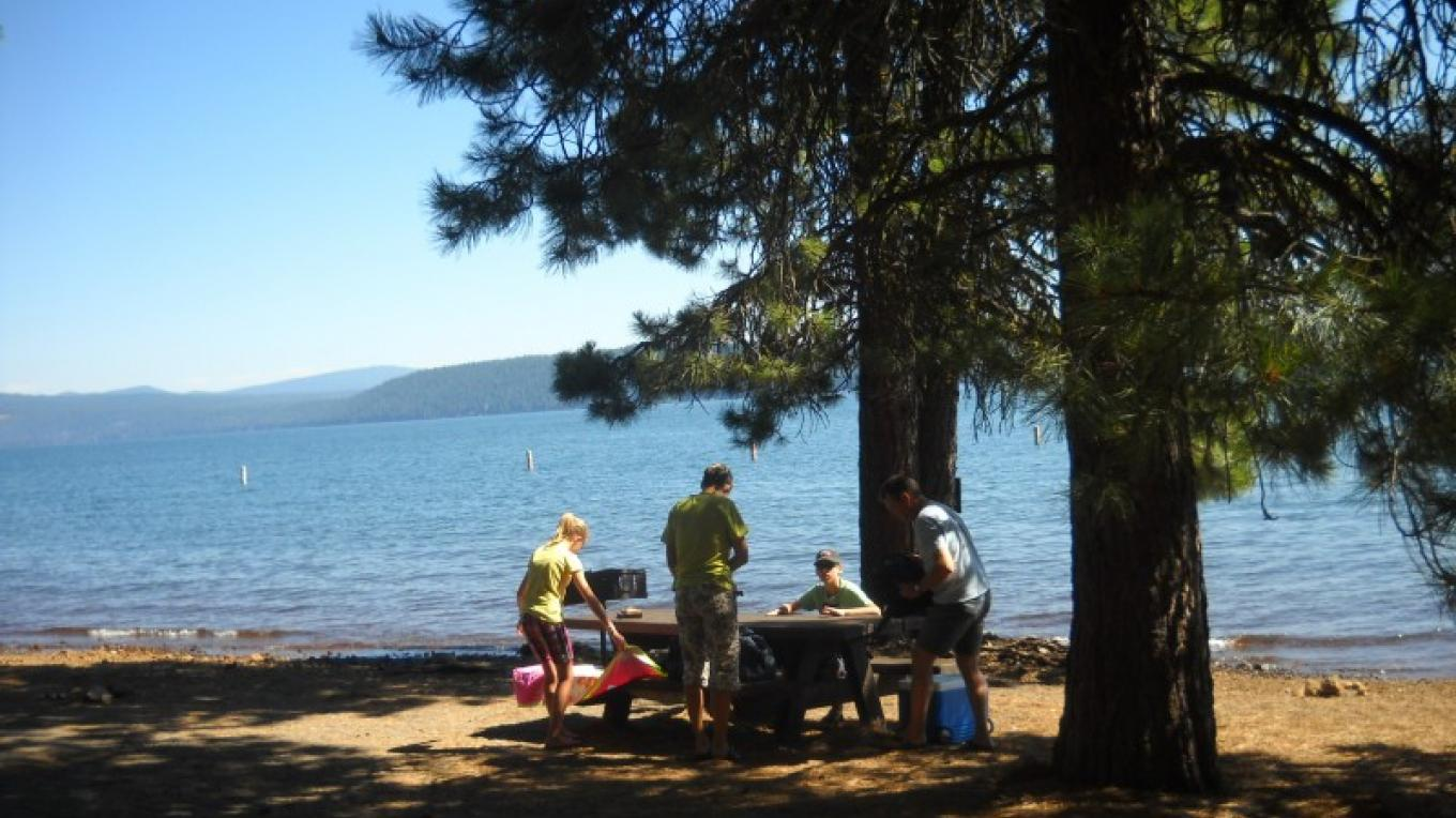 Picnicking at Lake Almanor Boat Ramp and Beach Access Area. – Volcanic Legacy