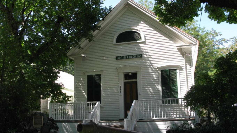 Downieville IOOF Building, 1864 – Linda Chaplin
