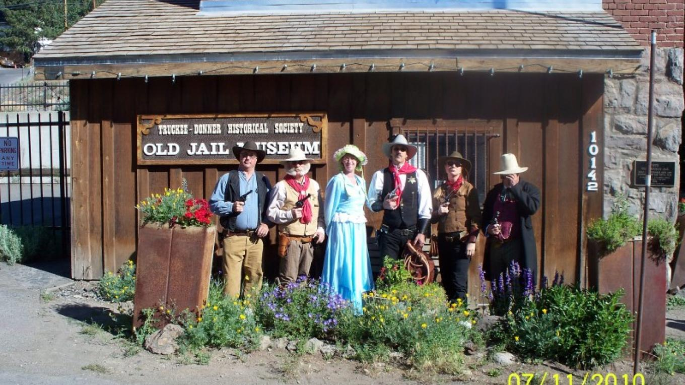 Railroad Regulators and Truckee Historical Society members during 10th Annual Poker Run for Cannibal Cruise. – © 2010 Truckee Donner Historical Society All Rights Reserved