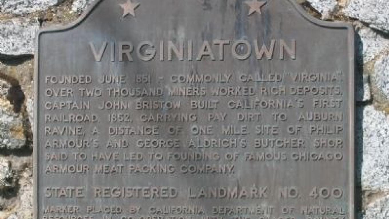 Virginiatown landmark – By Syd Whittle