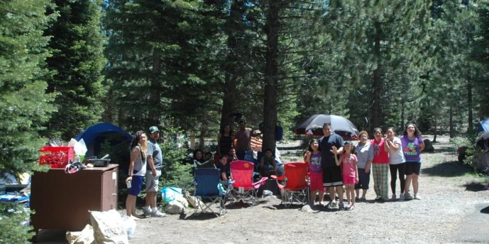 Visitors camping at the Manzanita Lake Campground. – Amanda Sweeney