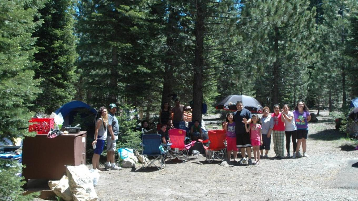 Visitors camping at the Manzanita Lake Campground. – Amanda Sweeney