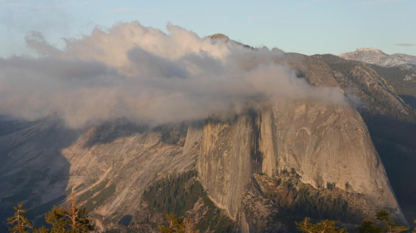 Half Dome after storm from Sentinel Dome at sunset – Pat Althizer