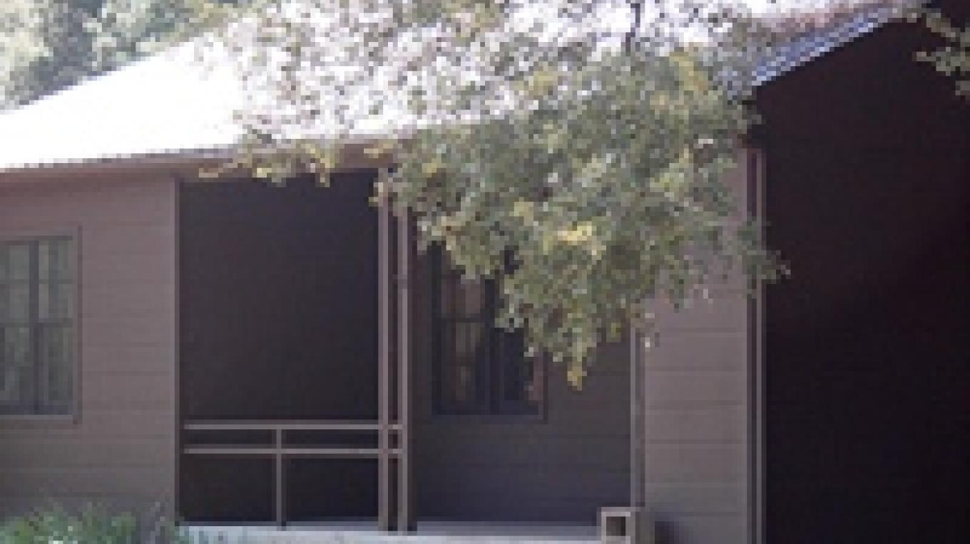Outside view of the Wishon Cabin