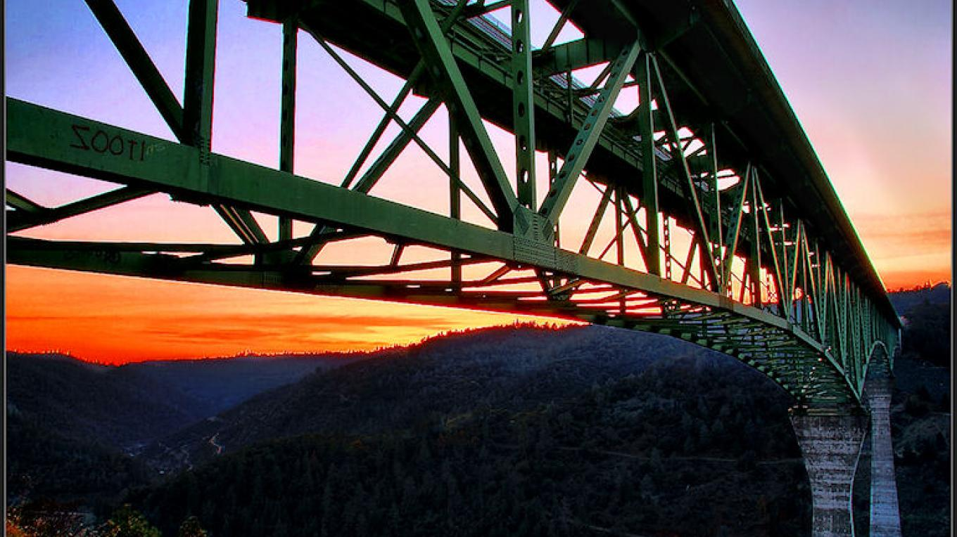 Span of Foresthill Bridge at Sunset – Darin Pointer - www.ffgphotos.com