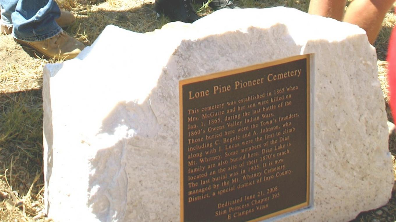 Pioneer Cemetery Plaque – Langley