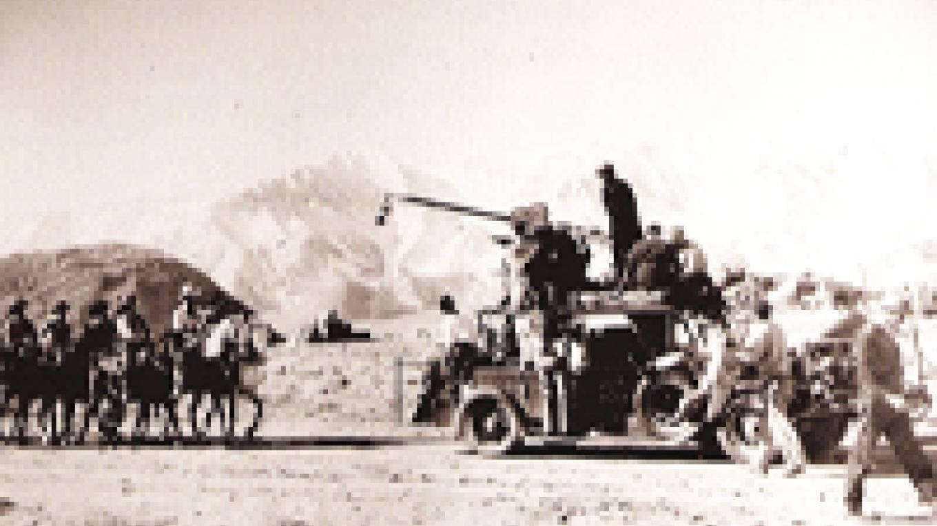 The Alabama Hills were the backdrop for hundreds of movies and televions shows, especially westerns. – Beverly and Jim Rogers Museum of Lone Pine Film History