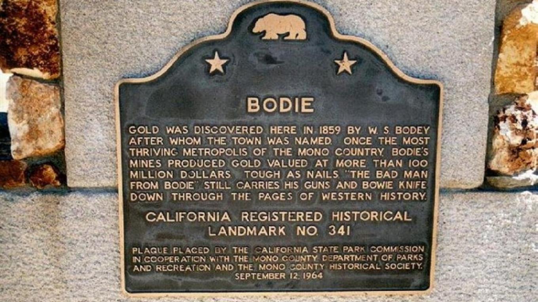 Bodie Landmark marker – Bodie.com